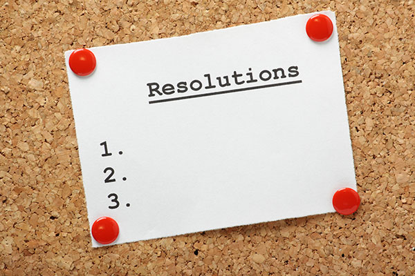 Resolutions for a better year